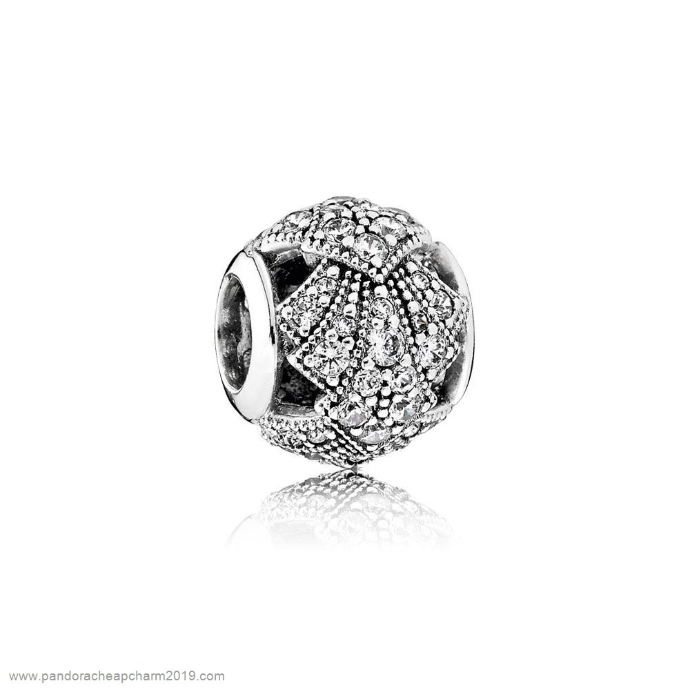 Pandora Specials Pandora Vacation Travel Charms Oriental Fan Charm Clear Cz